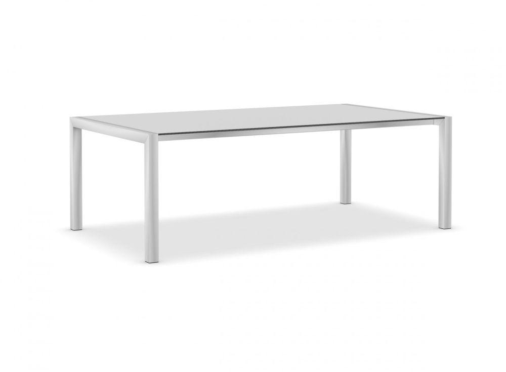 220, Anodised Aluminium, Alucompact white,Kristalia,Tables & Desks,coffee table,desk,end table,furniture,outdoor table,rectangle,sofa tables,table