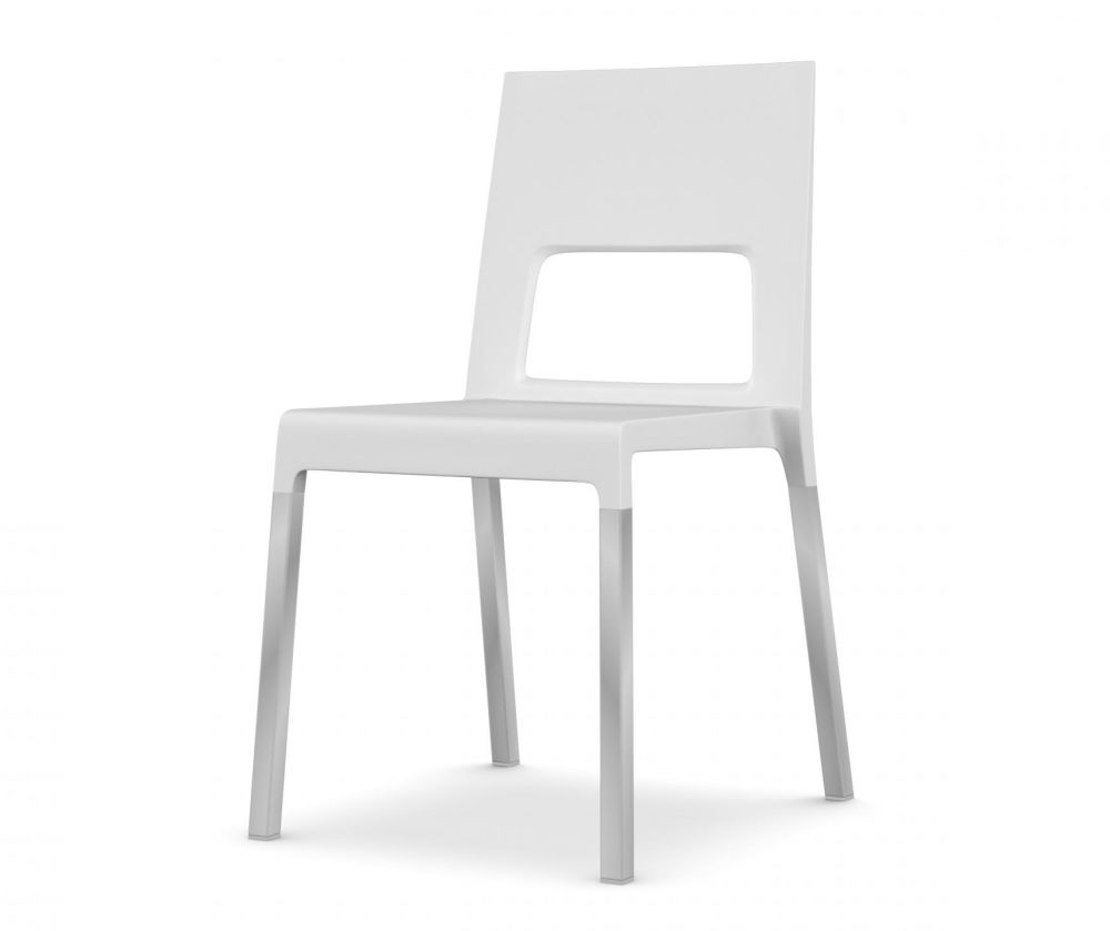 Anodised aluminium, White,Kristalia,Seating,chair,furniture,white