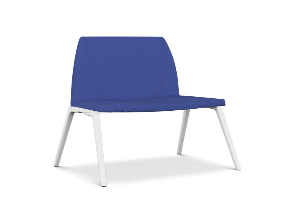 A7244 - Field 762 blue, White lacquered aluminium, Same on upholstery,Kristalia,Seating,azure,blue,chair,cobalt blue,electric blue,furniture,turquoise