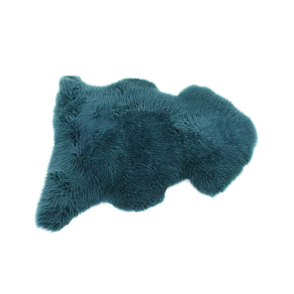 in Aubergine,Baa Stool,Rugs,fur,teal,turquoise,wool
