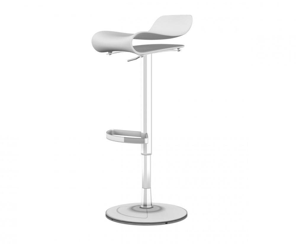 Polished chrome, White,Kristalia,Stools,bar stool,furniture,stool