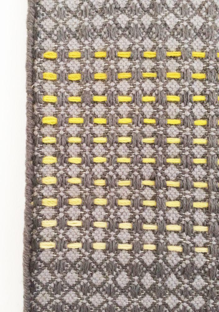HALDI - yellow & teal hand woven rug by WAFFLE DESIGN