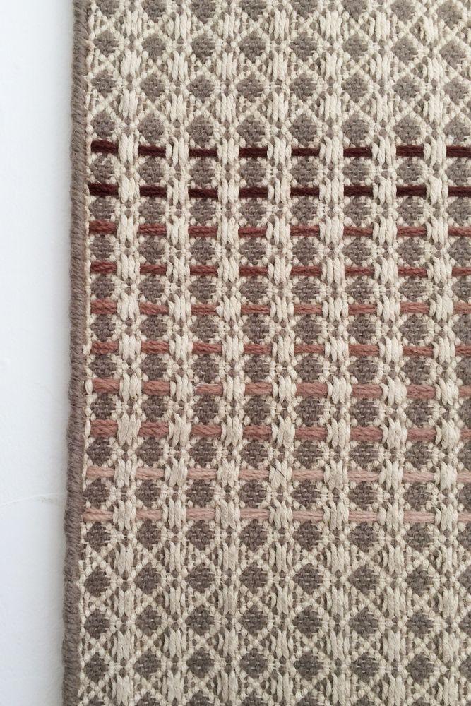 NAMKEEN - oatmeal hand woven rug by WAFFLE DESIGN