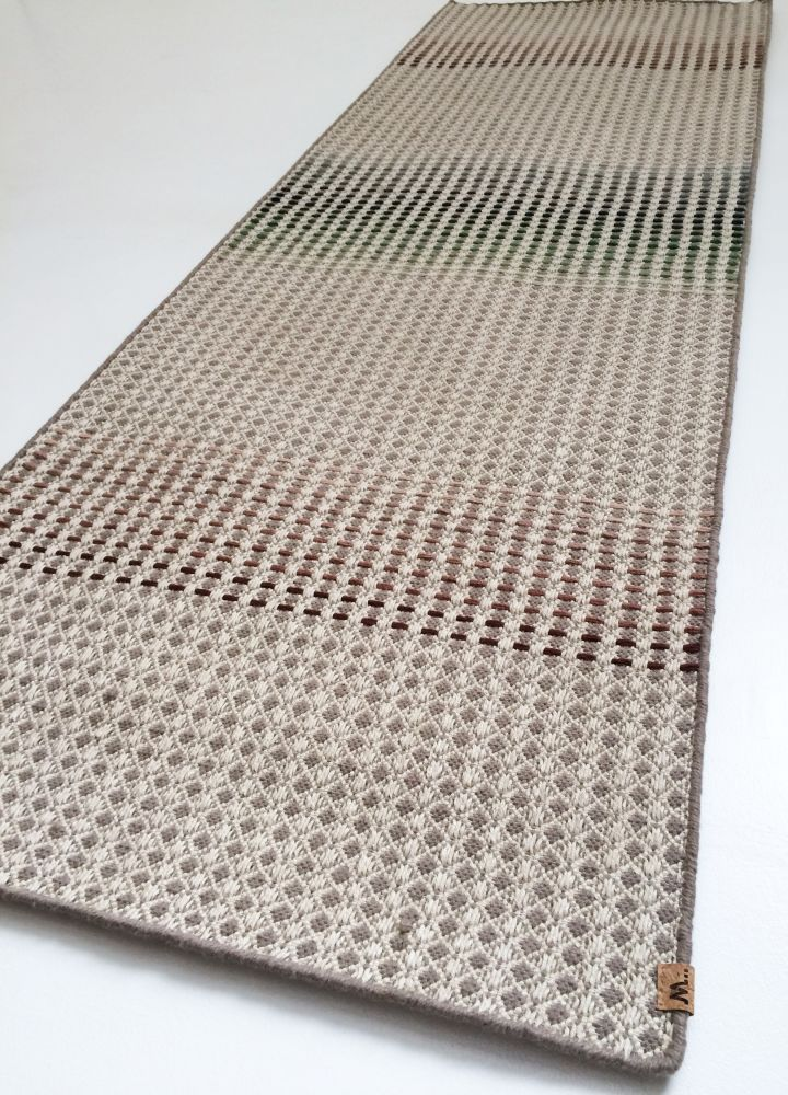 LALJEE - hand woven oatmeal runner by WAFFLE DESIGN