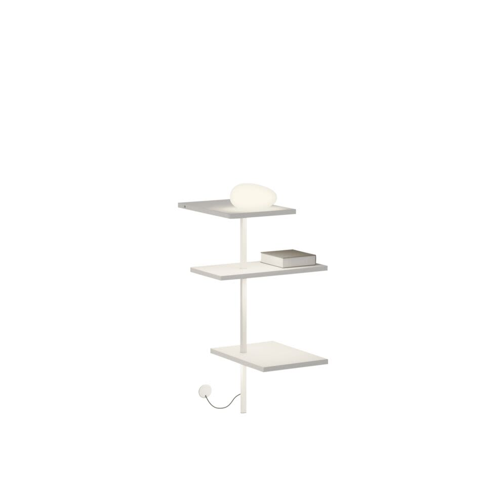 Matt chocolate lacquer,Vibia,Table Lamps,beige,furniture,shelf,shelving,table