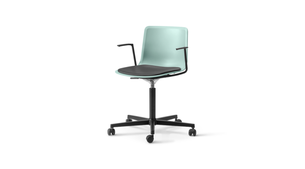 Pato Office Armchair with Seat Upholstery by Fredericia