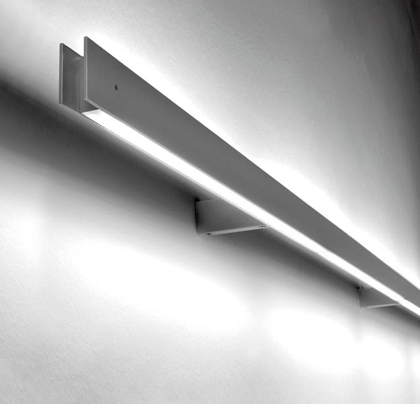 1L, No, Matte Grey, 130, LED,B.LUX,Wall Lights,light,lighting,line,white