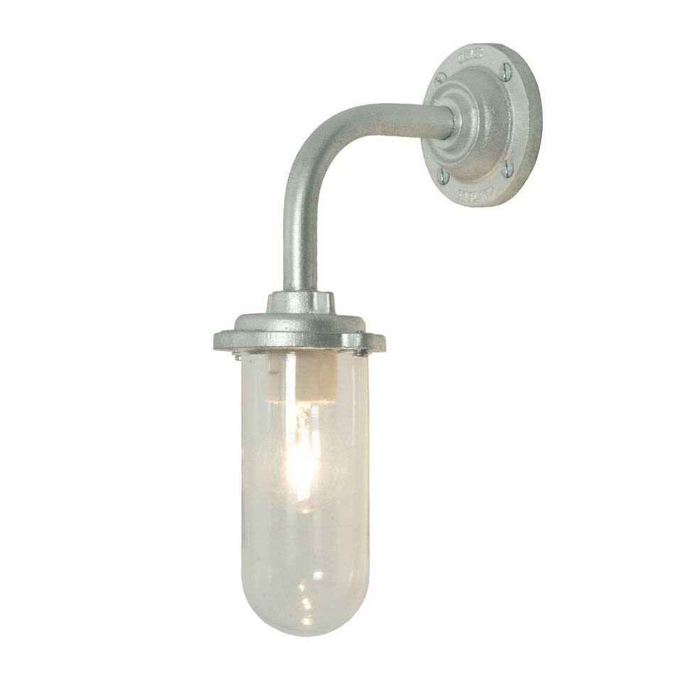Galvanised silver, Clear glass,Davey Lighting,Wall Lights,light fixture,lighting,sconce