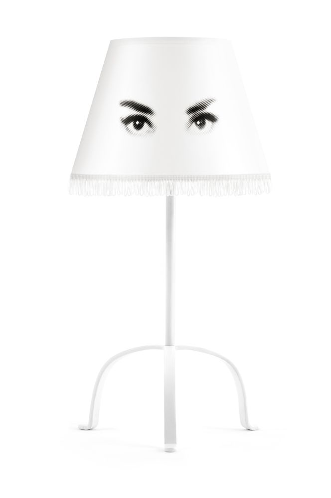 Eye Doll Table Lamp Audrey,Mineheart,Table Lamps,head,lamp,lampshade,light fixture,lighting,lighting accessory,white