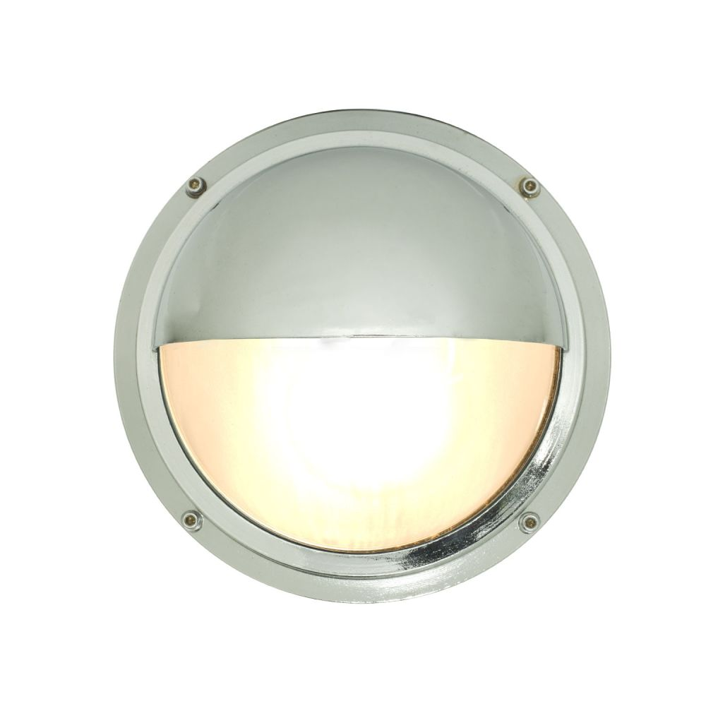 Brass Bulkhead with Eyelid Shield 7225 by Davey Lighting