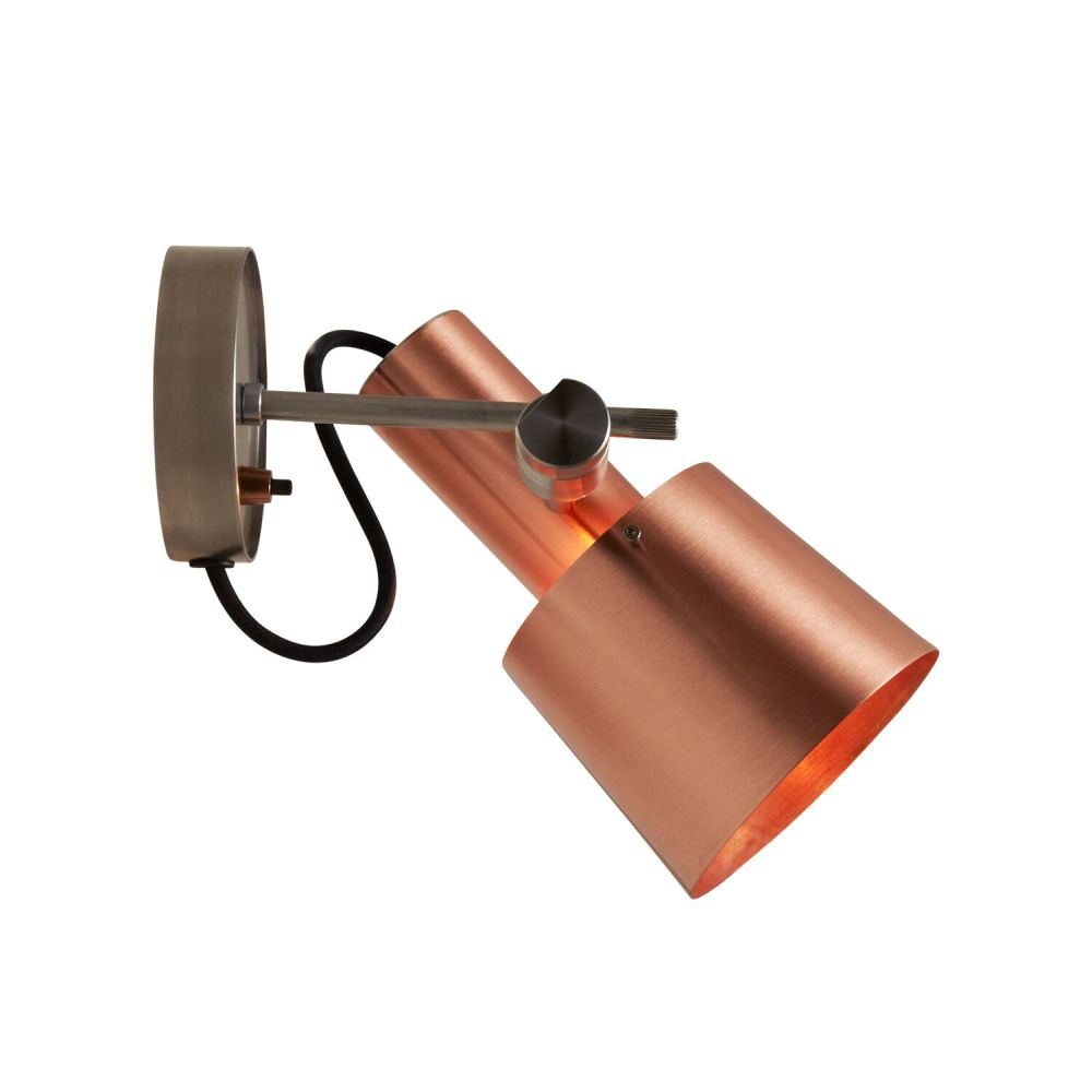 Satin Brass,Davey Lighting,Wall Lights,copper,metal,orange,sconce