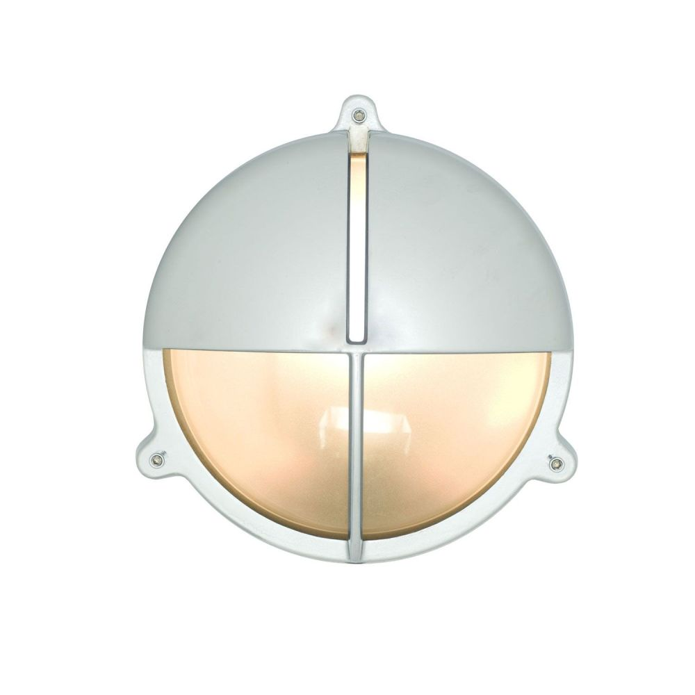 Brass Bulkhead With Eyelid Shield by Davey Lighting