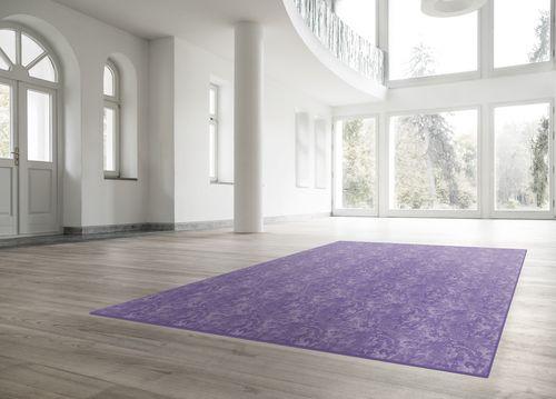 Amethyst Damask Rug,Mineheart,Rugs,architecture,beige,carpet,floor,flooring,hardwood,interior design,laminate flooring,lavender,lilac,line,property,purple,room,tile,violet,wood,wood flooring