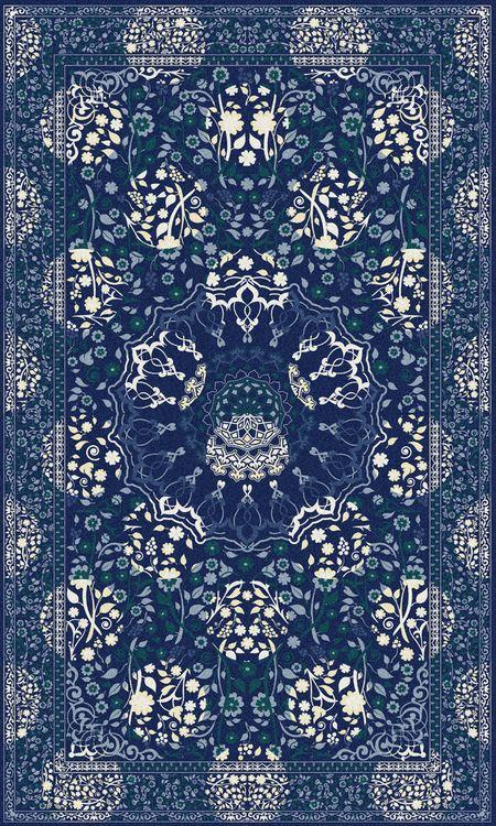 Midnight Moods Rug,Mineheart,Rugs,pattern,rug,textile
