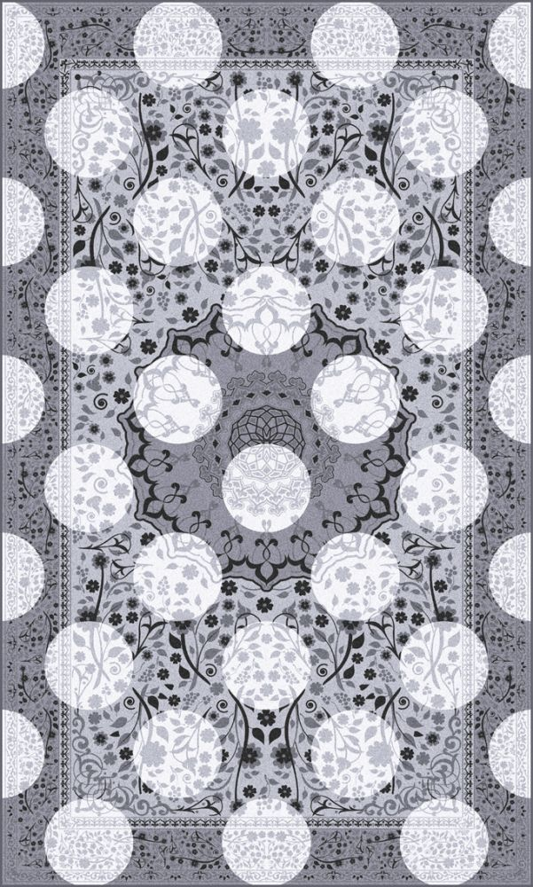 Monochrome Magic Rug,Mineheart,Rugs,design,monochrome,pattern,symmetry
