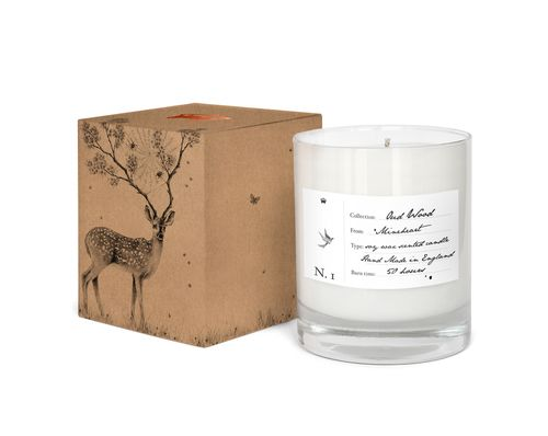 Oud Wood Scented Candle  by Mineheart