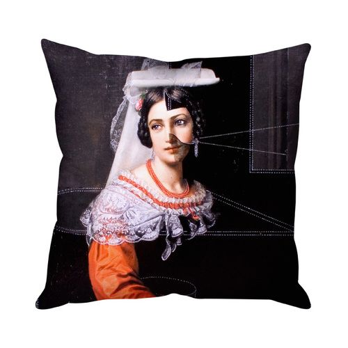 Isabella Cushion,Mineheart,Cushions,black,cushion,furniture,home accessories,linens,orange,pillow,textile,throw pillow