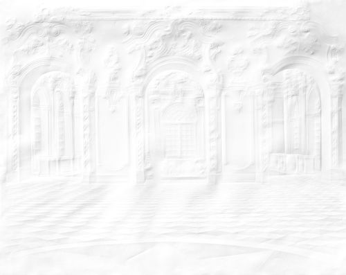 Paper Palace Folded Columns Mural Wallpaper,Mineheart,Wallpapers,white
