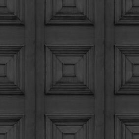 Bleached Oak Victorian Panelling Wallpaper,Mineheart,Wallpapers,architecture,black,design,door,line,pattern,symmetry,wood