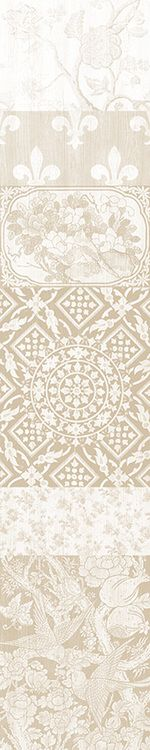 Arts and Crafts Patchwork Wallpaper Beige Panel A,Mineheart,Wallpapers,beige,design,line,pattern,textile