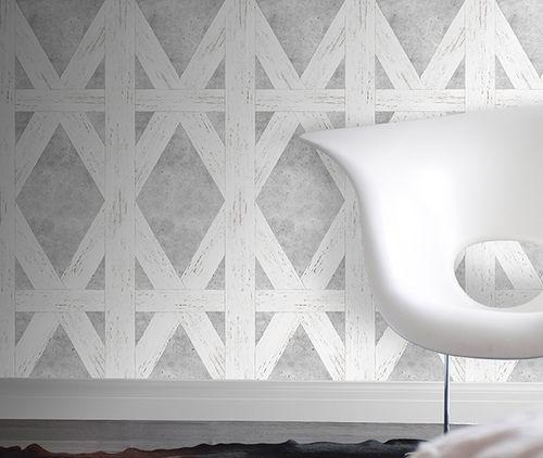 White Tudor Wallpaper,Mineheart,Wallpapers,design,floor,interior design,room,tile,wall,wallpaper,white