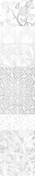 Almost White Arts and Crafts Patchwork Wallpaper Panel A,Mineheart,Wallpapers,design,line,pattern
