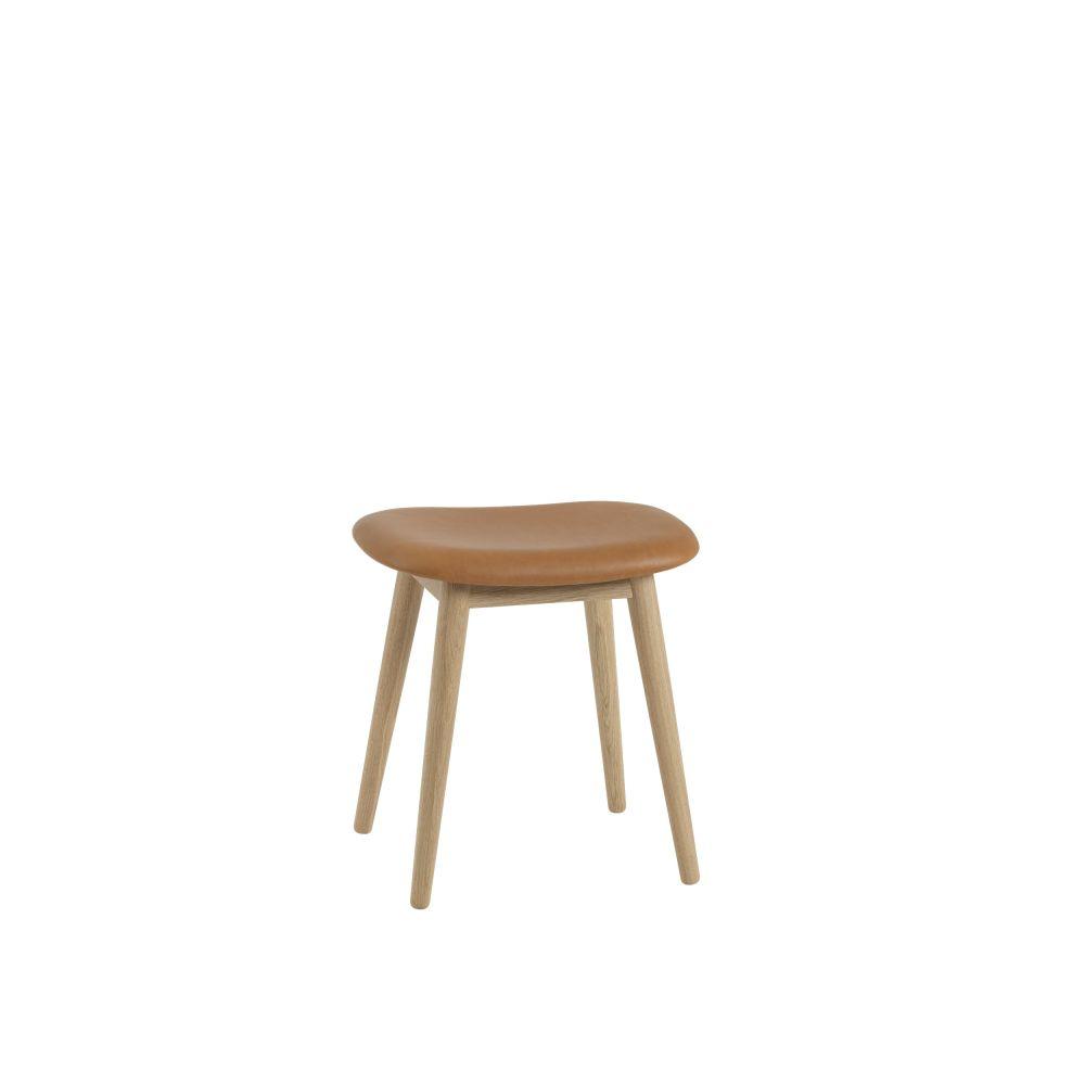 Fiber Stool Wood Base - Upholstered by Muuto