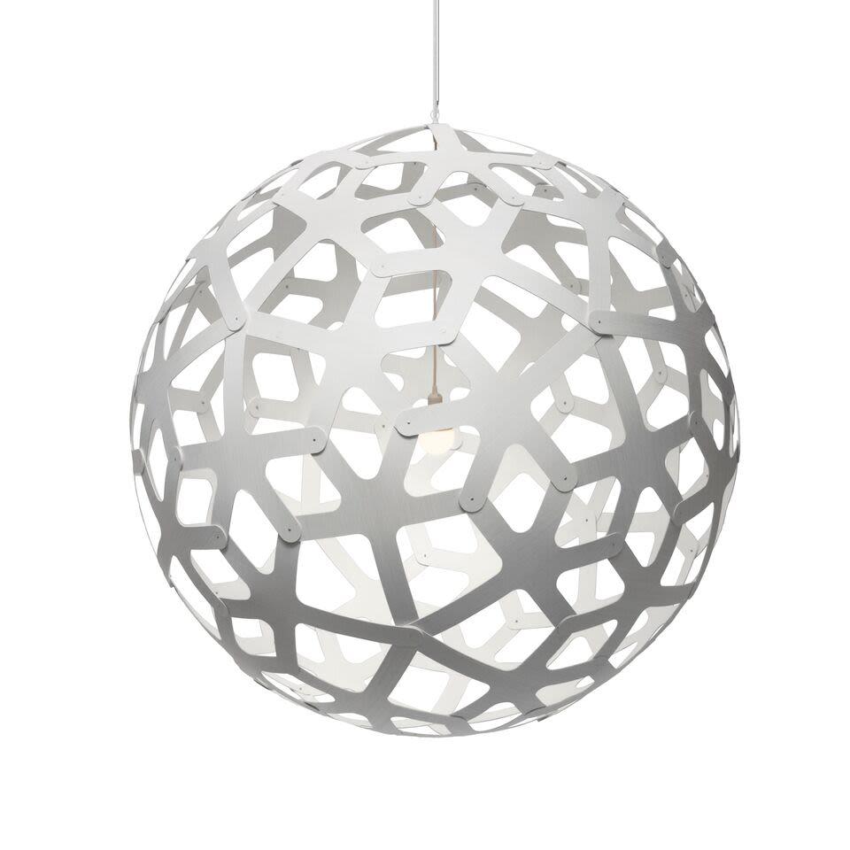 White 2 Sides, 160,David Trubridge,Pendant Lights,ceiling fixture,holiday ornament,light fixture,lighting,sphere