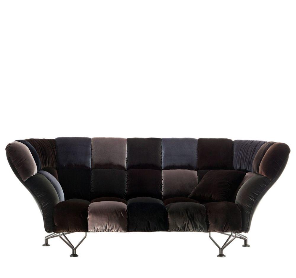 33 CUSCINI Velvet Sofa by Driade