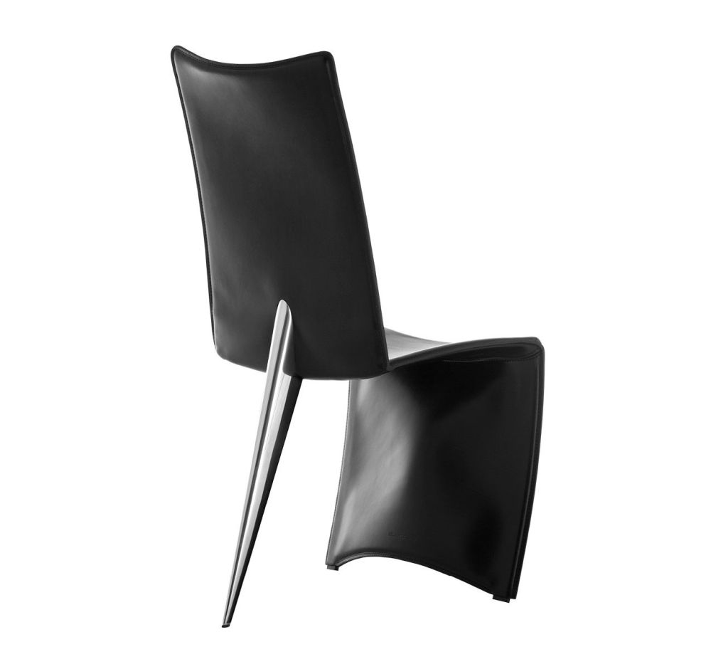 Black Leather,Driade,Occasional Chairs,black,chair,furniture,leather