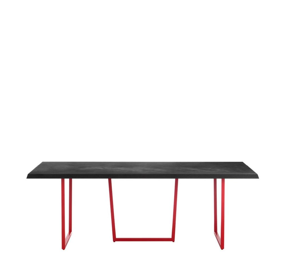 Black, Cement,Driade,Office Tables & Desks,furniture,outdoor table,rectangle,table