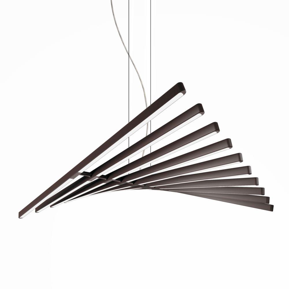 Rhythm Horizontal Pendant Light - 87 cm Height by Vibia