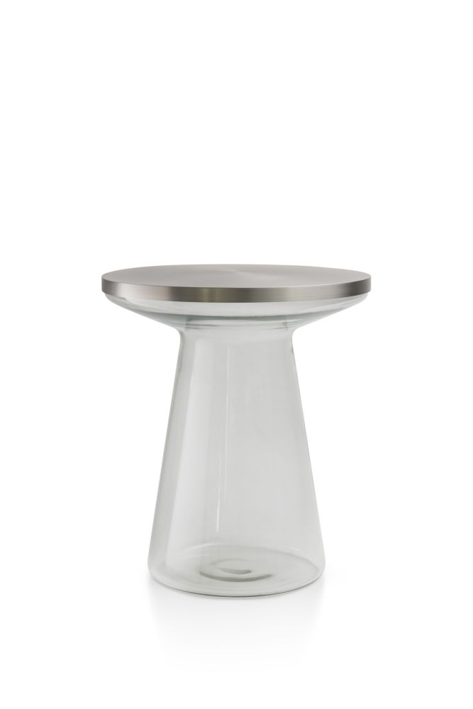 Clear&brushed stainless steel,TEO Europe,Coffee & Side Tables,furniture,stool,table