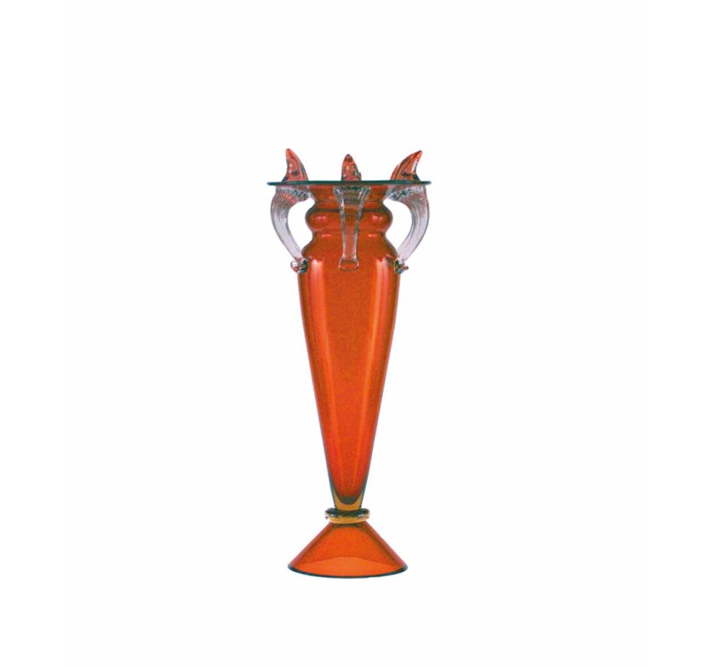 Glass,Driade,Vases,orange