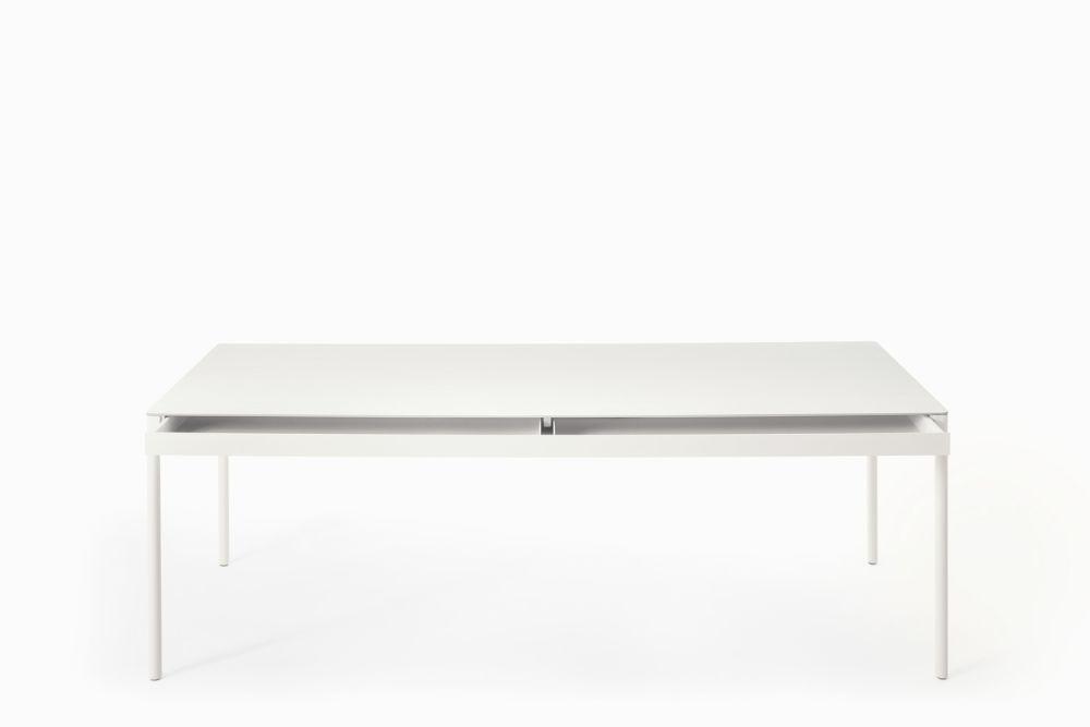 B62 Matt White, D85 Concrete, 85 x 140cm,Desalto,Tables & Desks,coffee table,desk,furniture,rectangle,sofa tables,table