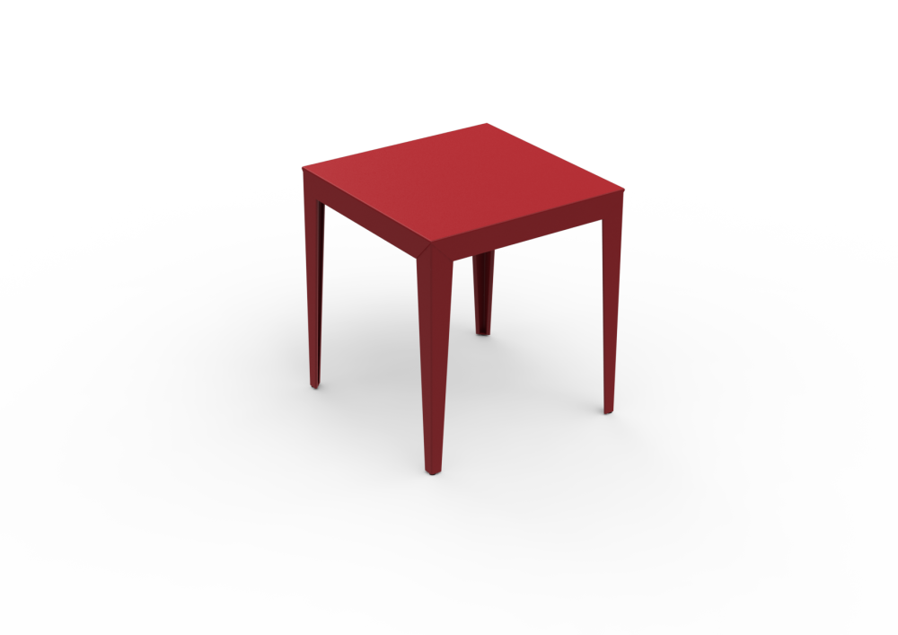 Zef Steel Square Table 70x70 by Matière Grise