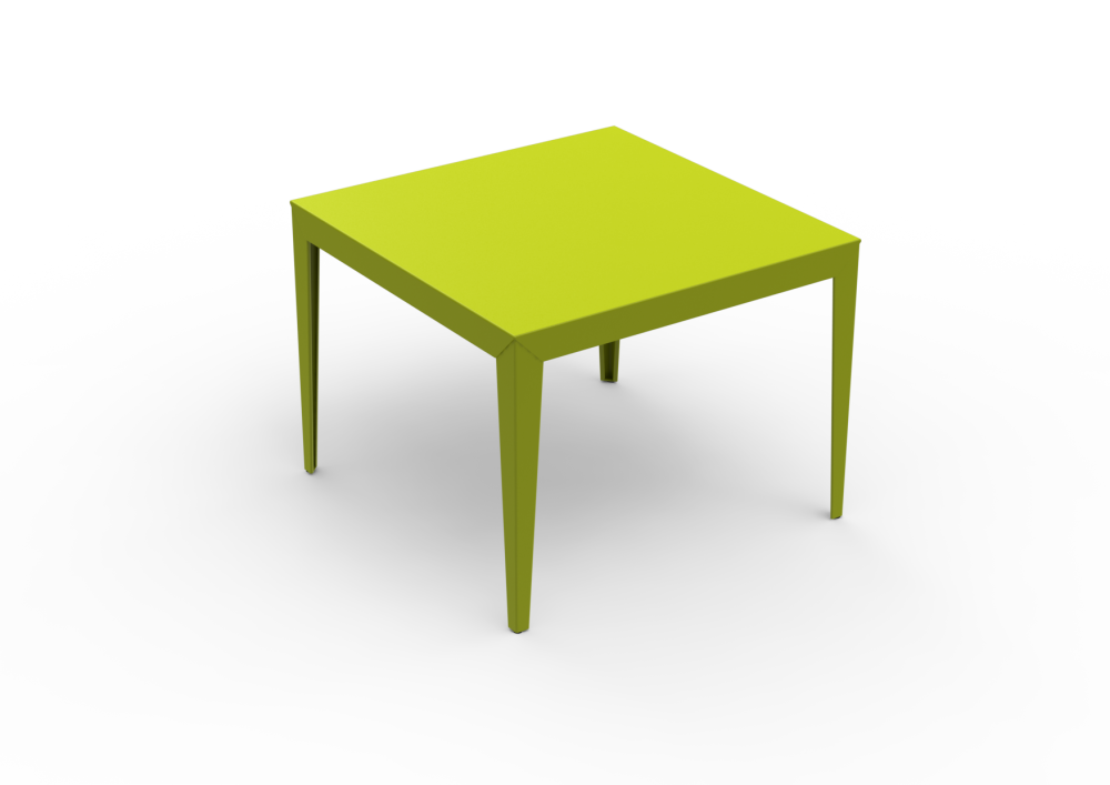Zef Aluminium Square Table 100x100 by Matière Grise