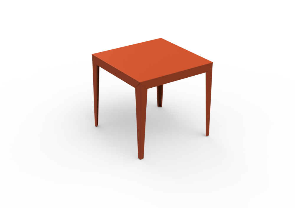 Zef Steel Square Table 80x80 by Matière Grise