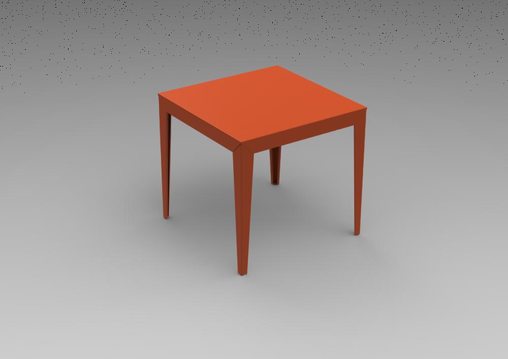 Zef Aluminium Square Table 80x80 by Matière Grise