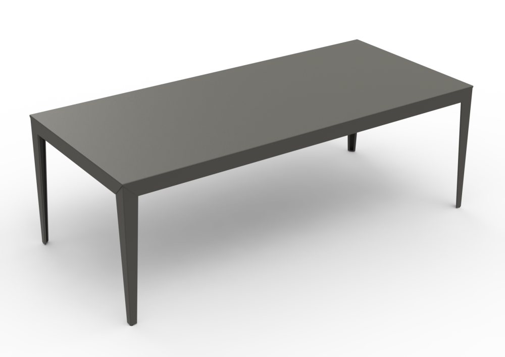 Zef Aluminium Rectangular Table 220x100 by Matière Grise