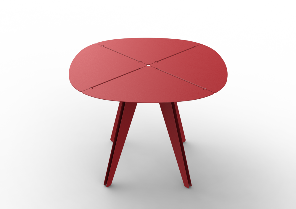 White - 01 RAL 9016,Matière Grise,Coffee & Side Tables,furniture,red,stool,table