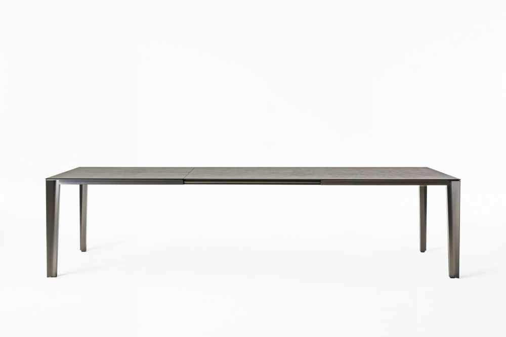 B62 Matt White, D85 Concrete, 85 x 170/250cm,Desalto,Dining Tables,coffee table,desk,furniture,outdoor table,rectangle,sofa tables,table