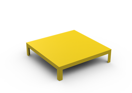 White - 01 RAL 9016, Yes,Matière Grise,Coffee & Side Tables,coffee table,furniture,outdoor table,table,yellow