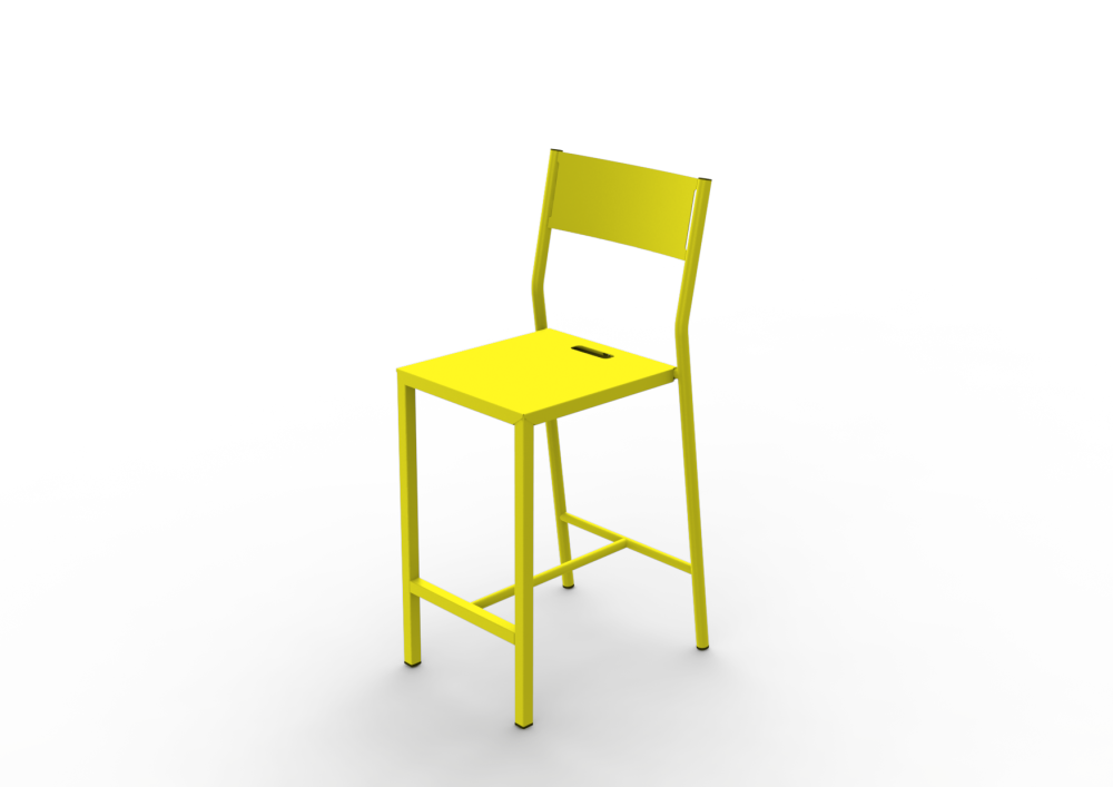 75, White - 01 RAL 9016,Matière Grise,Stools,chair,furniture,table,yellow
