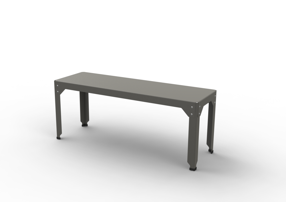 M, White - 01 RAL 9016,Matière Grise,Benches,bench,coffee table,desk,furniture,outdoor furniture,outdoor table,rectangle,sofa tables,table