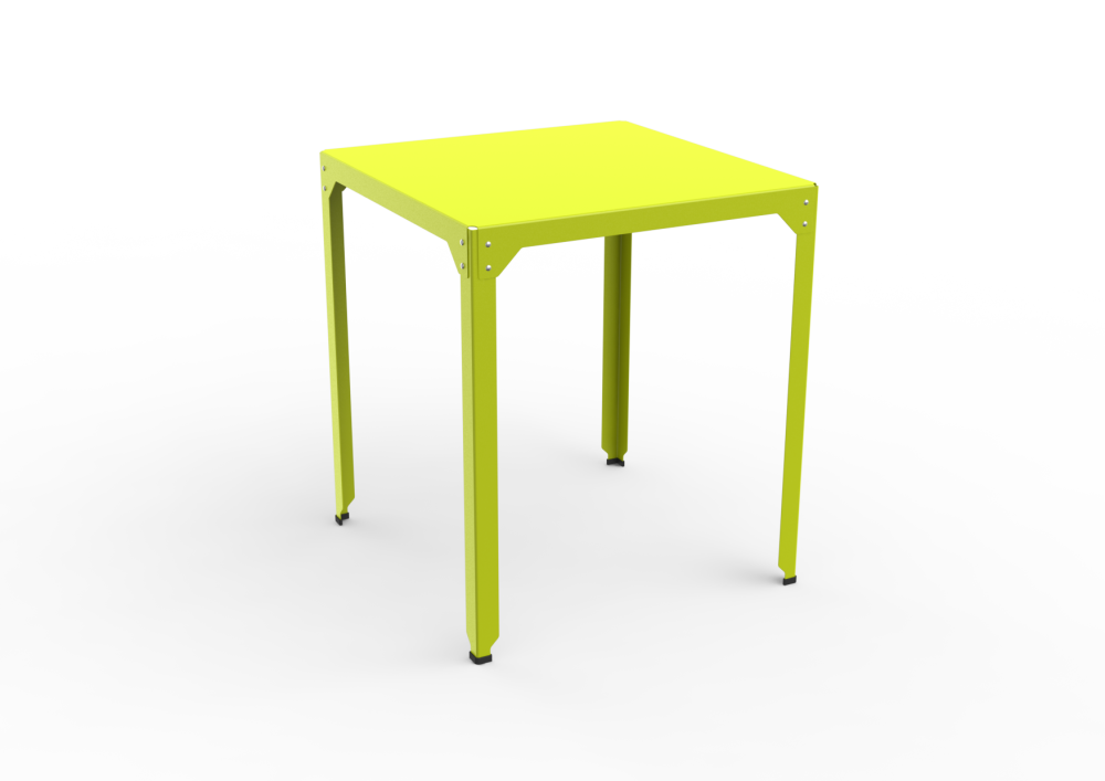 White - 01 RAL 9016,Matière Grise,High Tables,end table,furniture,outdoor furniture,outdoor table,stool,table,yellow