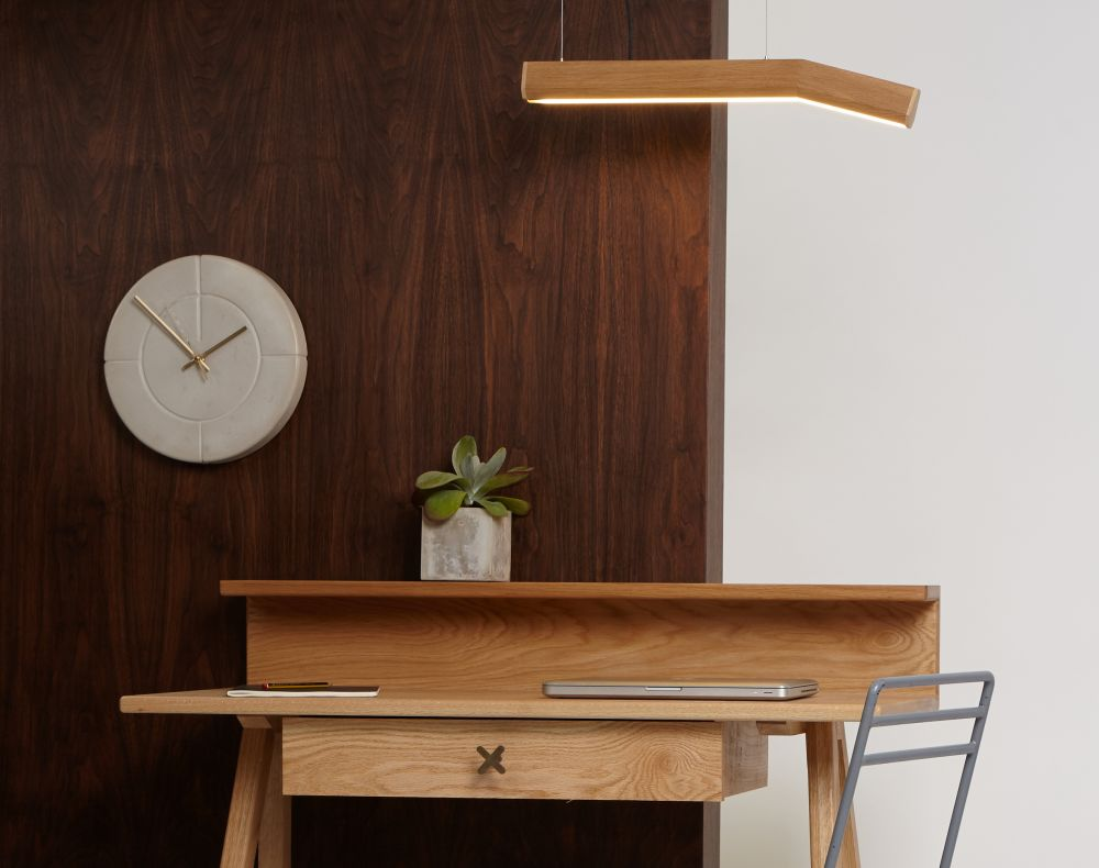 Concrete Groove Clock by Room-9