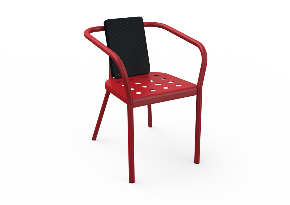 White - 01 RAL 9016, Sparkly Black - 03 RAL NA,Matière Grise,Dining Chairs,chair,furniture,red