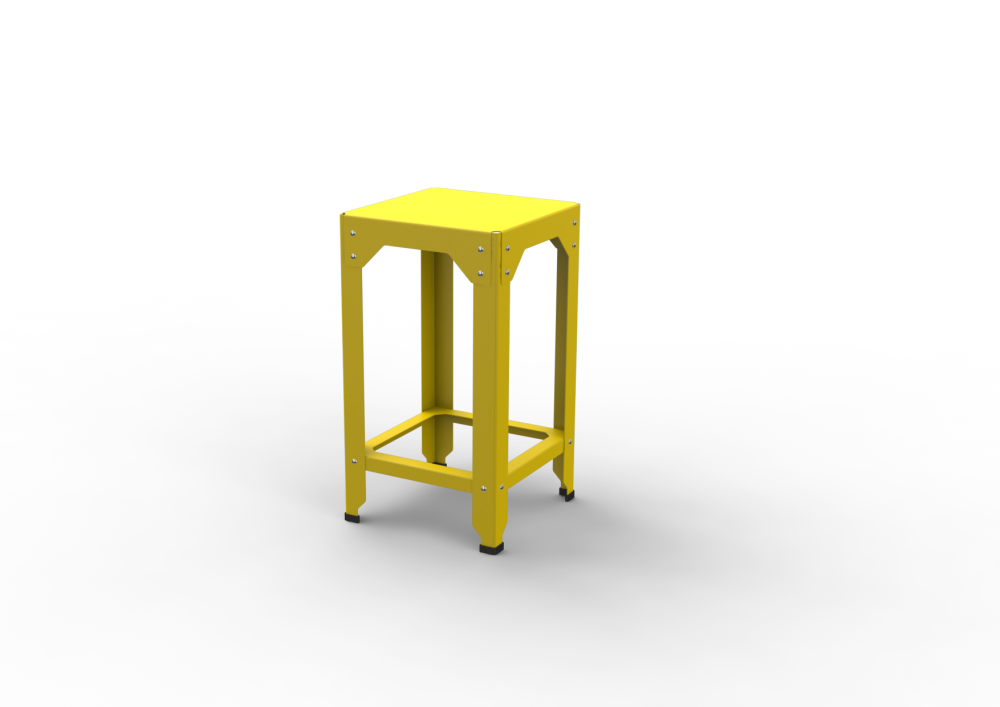 75, White - 01 RAL 9016,Matière Grise,Stools,bar stool,furniture,stool,table,yellow