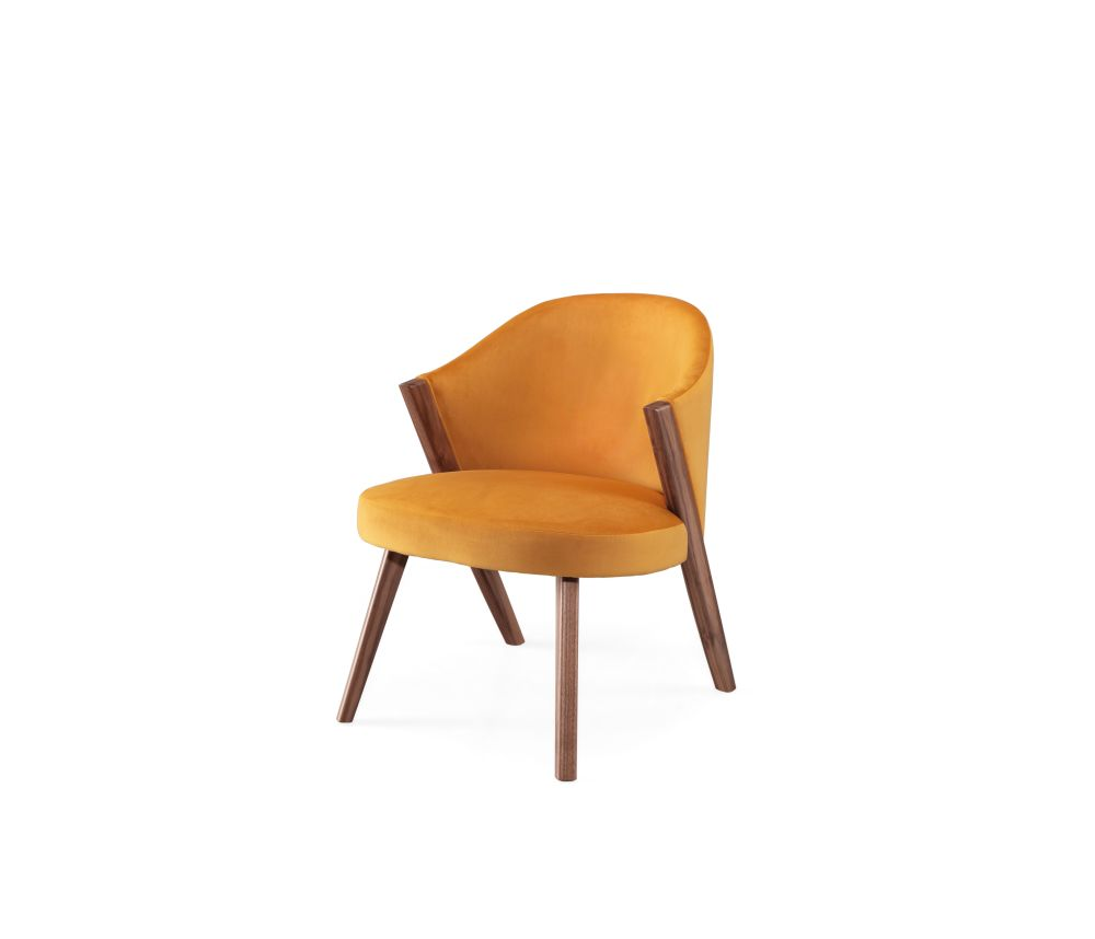Oak Natural, Lana 007 Canary,Wewood ,Lounge Chairs,beige,chair,furniture,line,orange,tan,yellow
